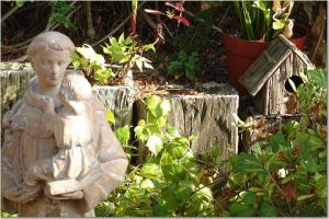 Backyard Statue