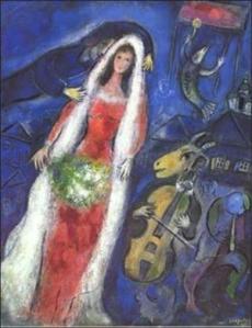 Chagall's La Mariée, 1950